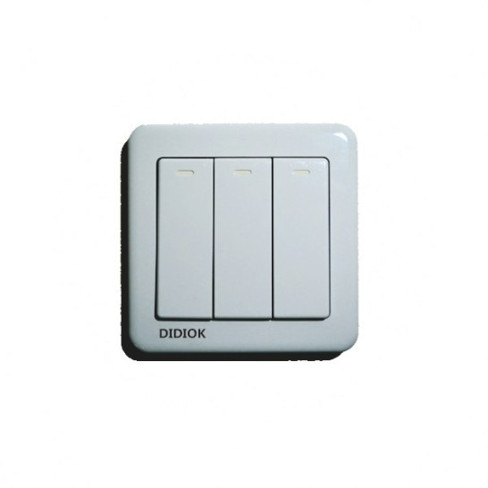 Wireless Luxury Wall Switch 3 Gang 3 Way Light Led pertaining to Wireless 3 Way Switch