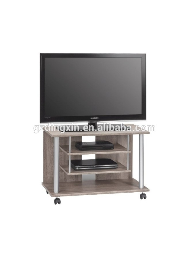 Wooden Lcd Tv Stand Design With Wheels Home Office throughout Tv Stand On Wheels