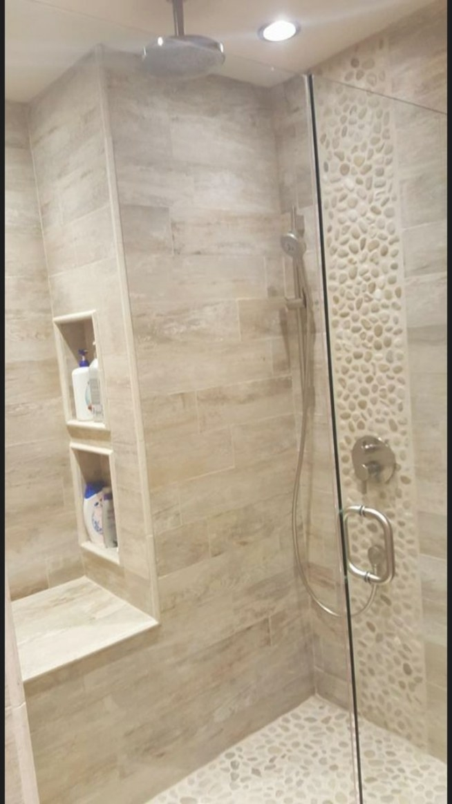 #Woodlook Porcelain Tile For Your Shower. Club Beige Https pertaining to Porcelain Tiles For Bathrooms