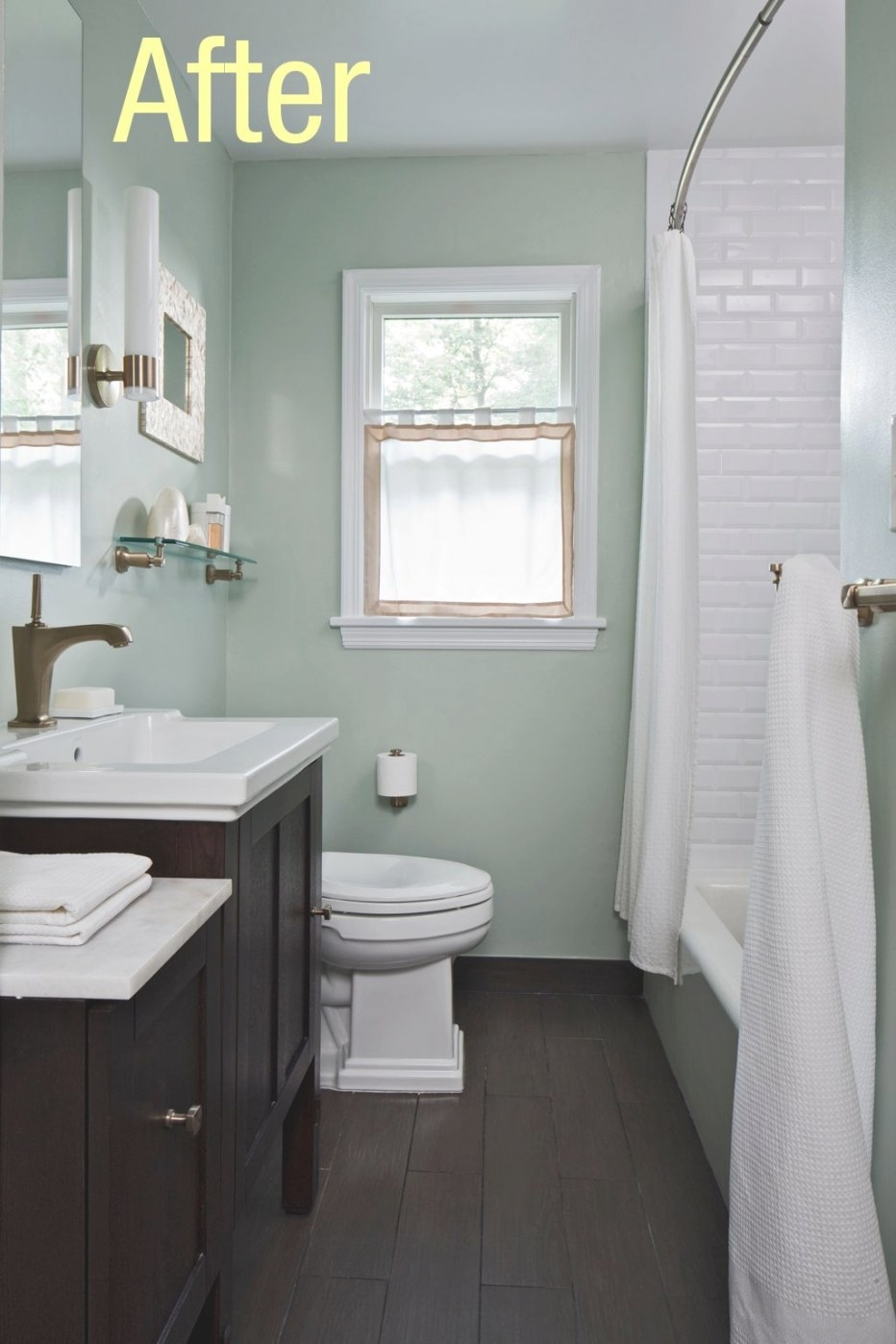 Would You Put Wood Floors In Your Bathrooms? | Bathroom throughout ** In Small Bathroom