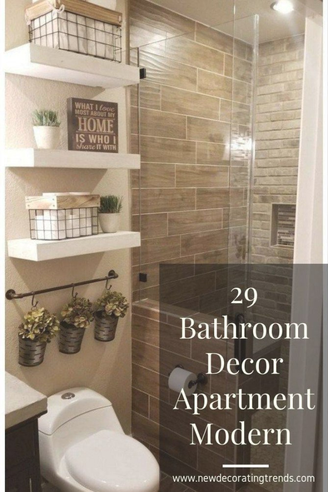 29 Bathroom Decor Apartment Modern #bathroom in Bathroom Decor
