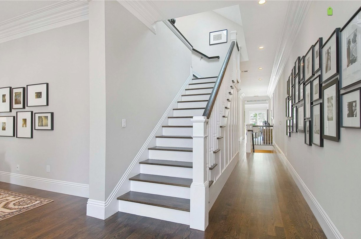 Balboa Mist Benjamin Moore Paint … | Traditional Staircase throughout Balboa Mist Benjamin Moore
