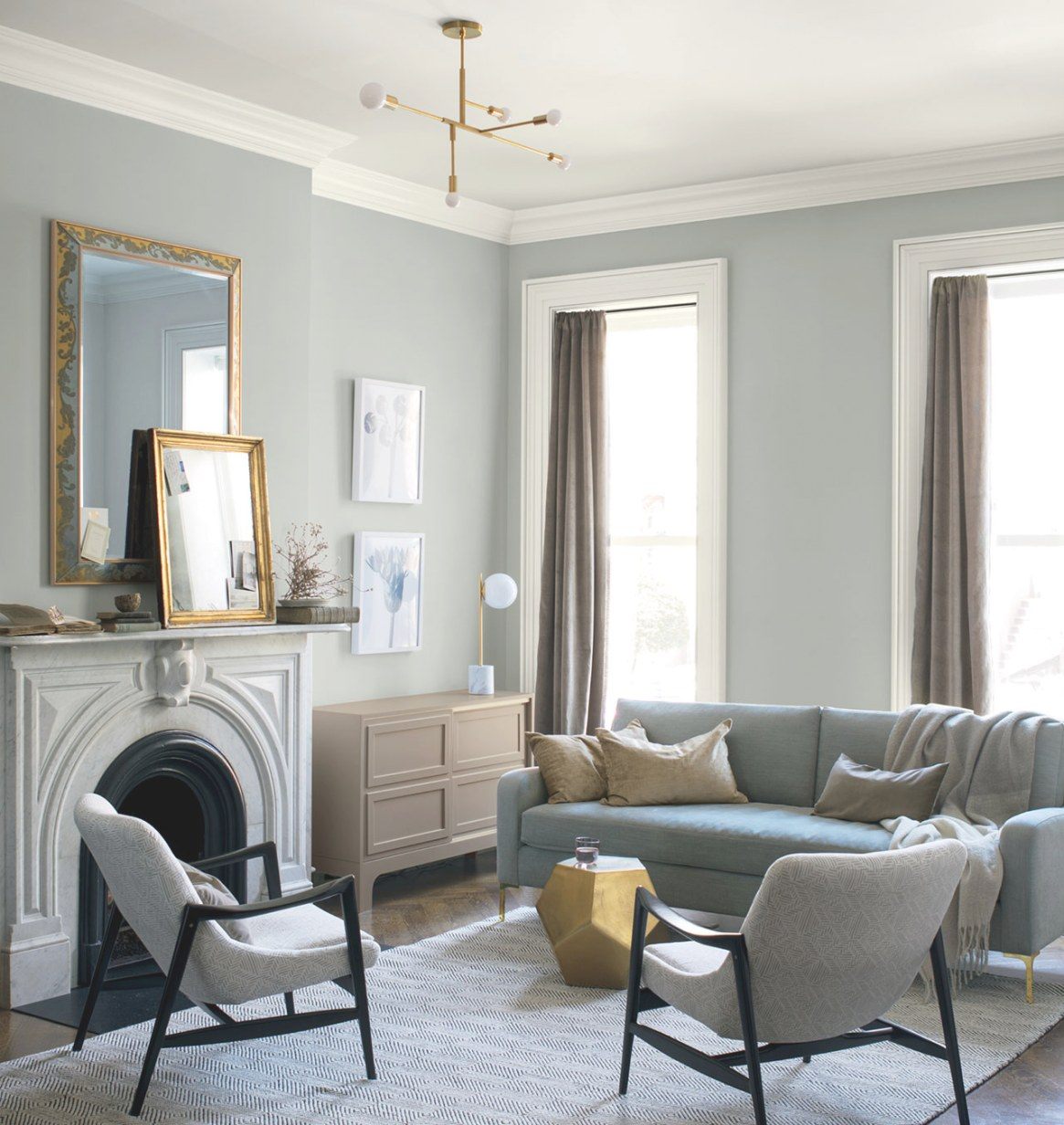 Benjamin Moore's Colour Of The Year 2019 - Chatelaine inside Balboa Mist Benjamin Moore
