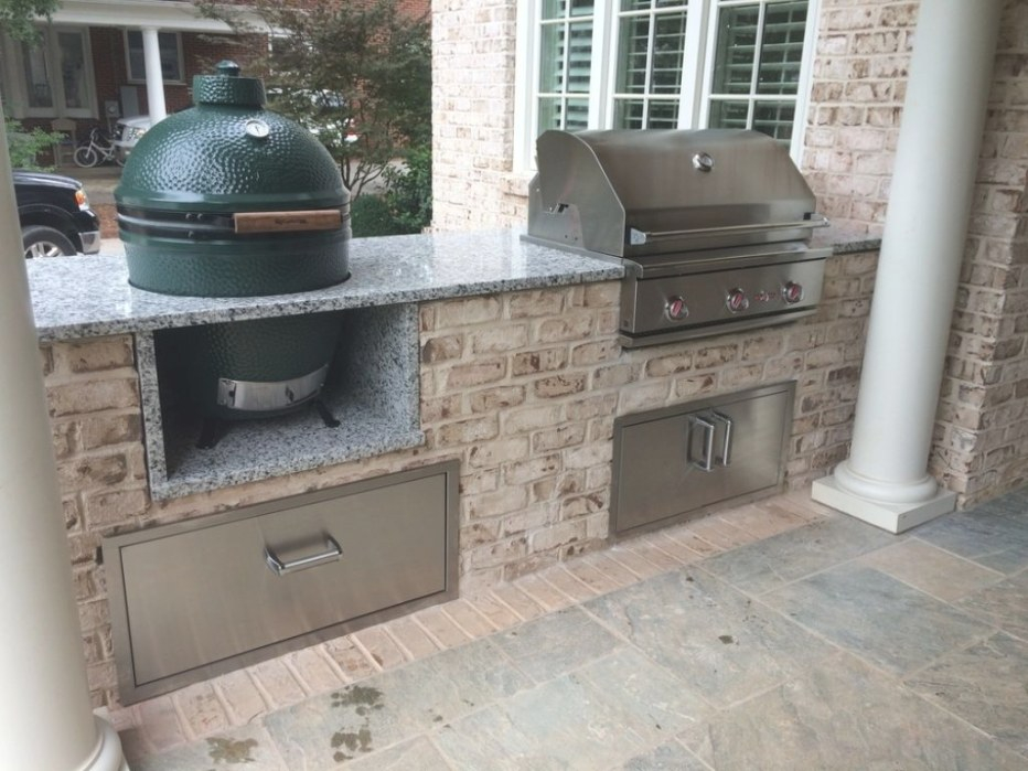 Big Green Egg Outdoor Kitchen Blueprints | Outdoor Grill intended for Big Green Egg Outdoor Kitchen