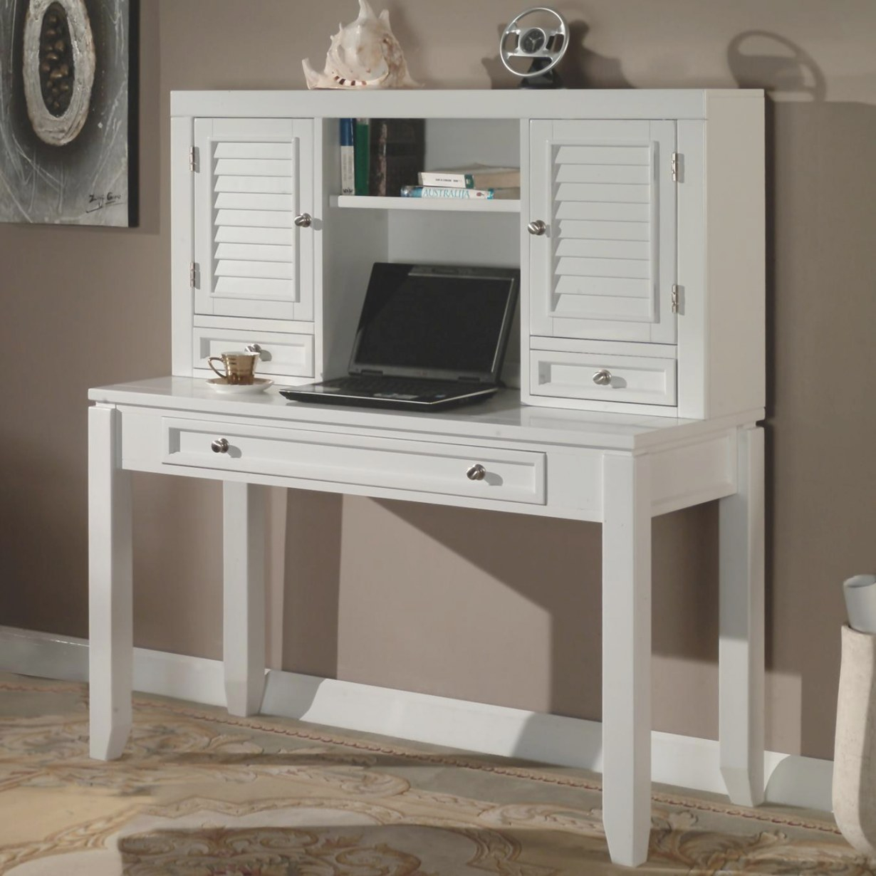 "Boca 47"" Writing Desk And Hutch throughout Writing Desk With Hutch"
