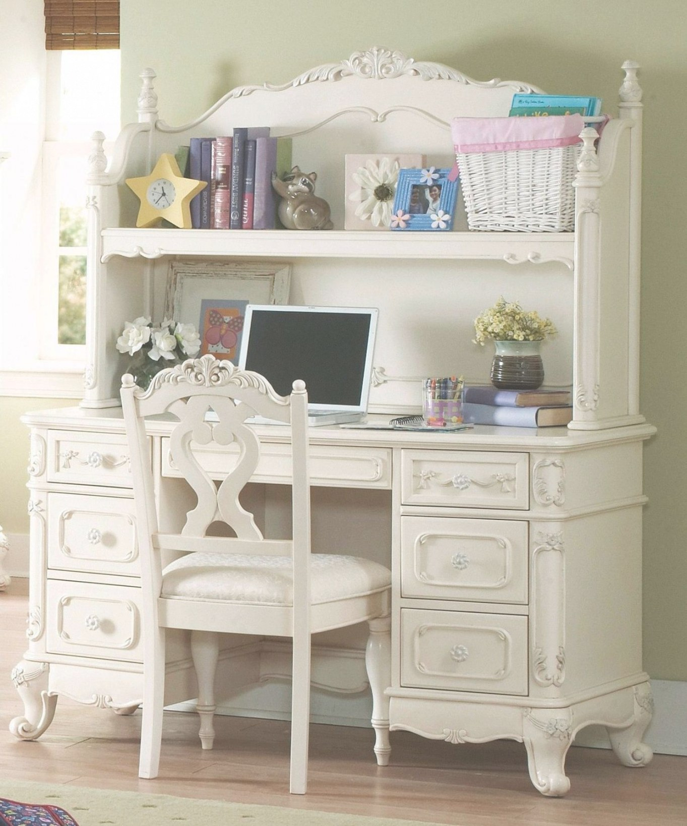Cinderella Youth Writing Desk W/ Hutch throughout Writing Desk With Hutch