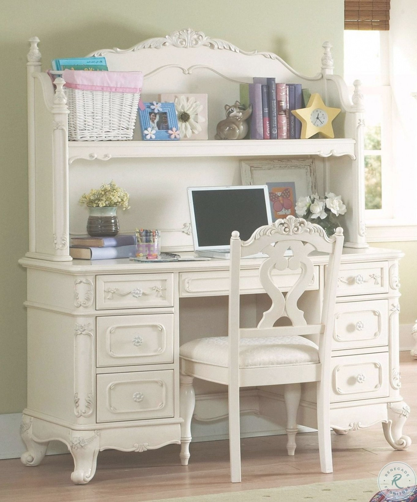 Cinderella Youth Writing Desk With Hutch within Writing Desk With Hutch