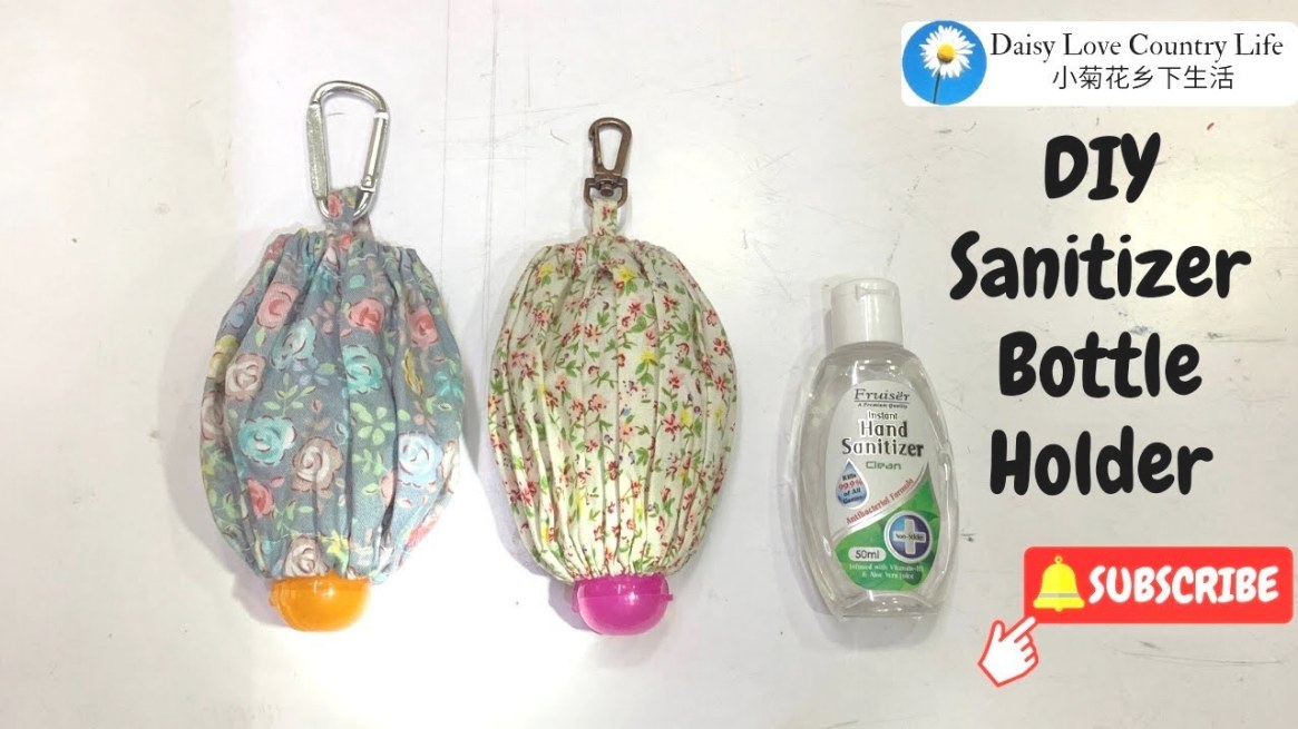 Diy Hand Sanitizer Bottle Holder Tutorial for Hand Sanitizer Holder Diy