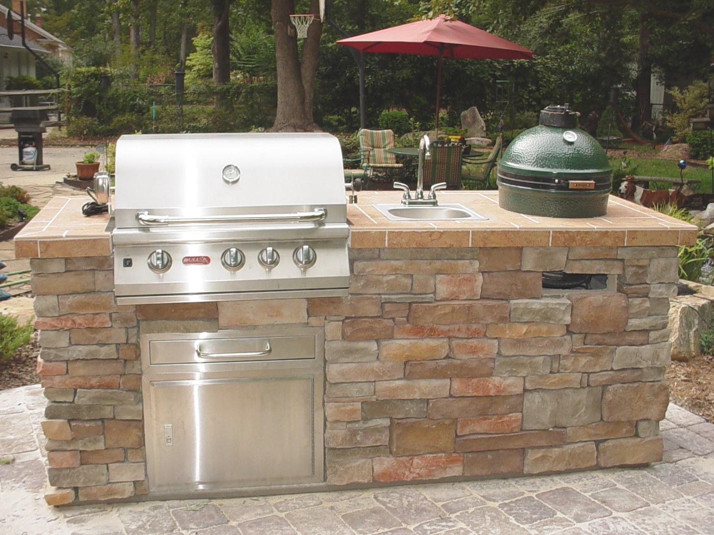 Diy Home Decorating: Big Green Egg Outdoor Kitchen for Big Green Egg Outdoor Kitchen