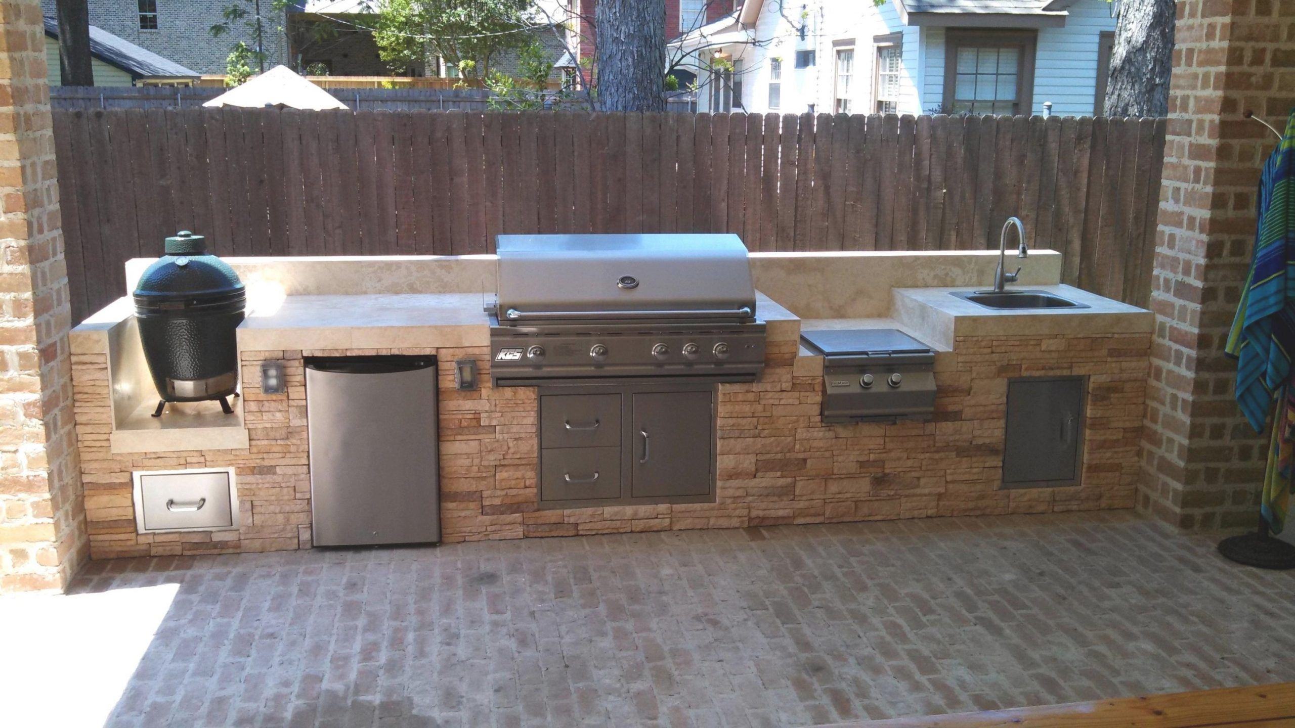 Extraordinary Green Egg Built In Outdoor Kitchen — Randolph pertaining to Big Green Egg Outdoor Kitchen