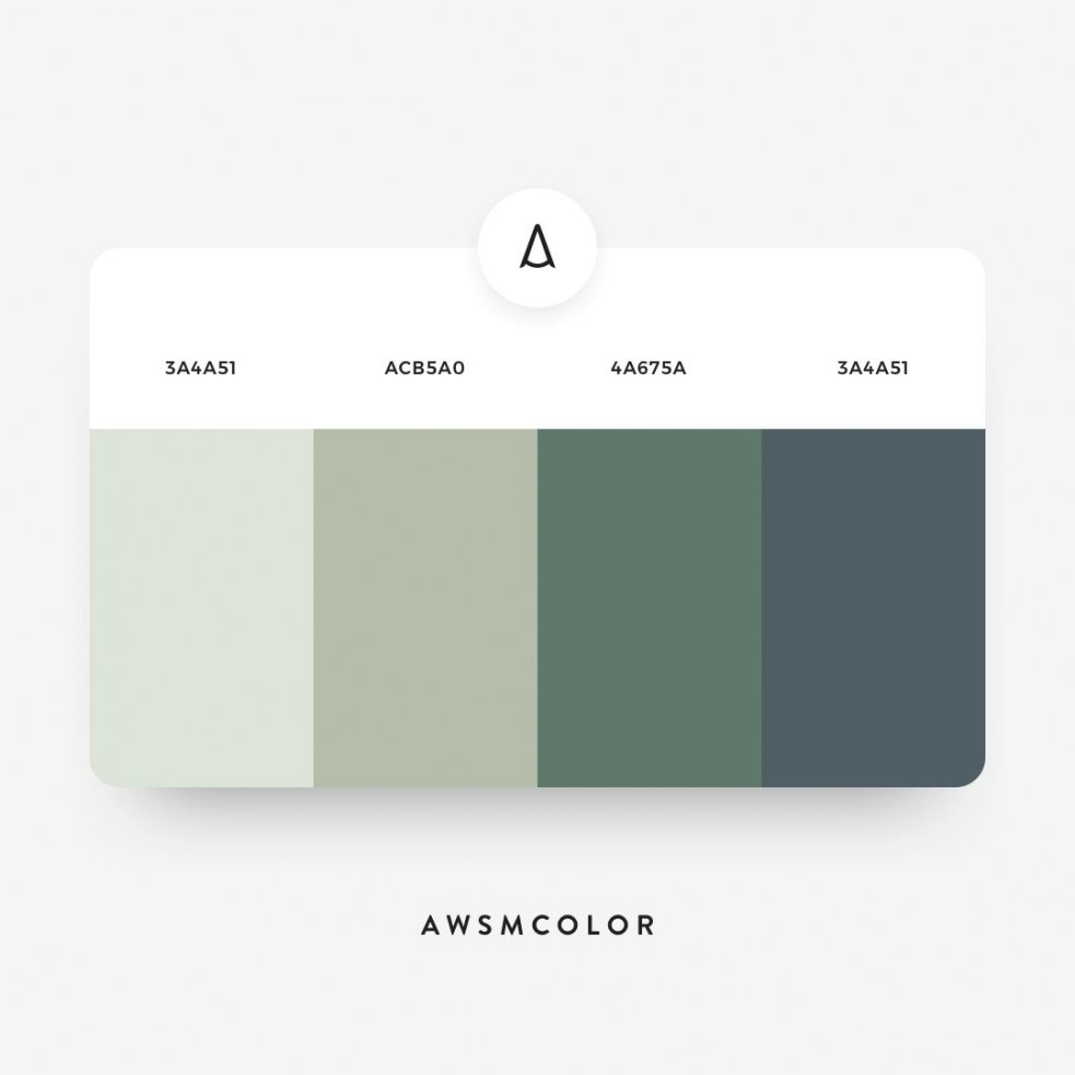 🎨 #awsmcolor27 | Green Colour Palette, Flat Color Palette with Inspirational Color Palette Green