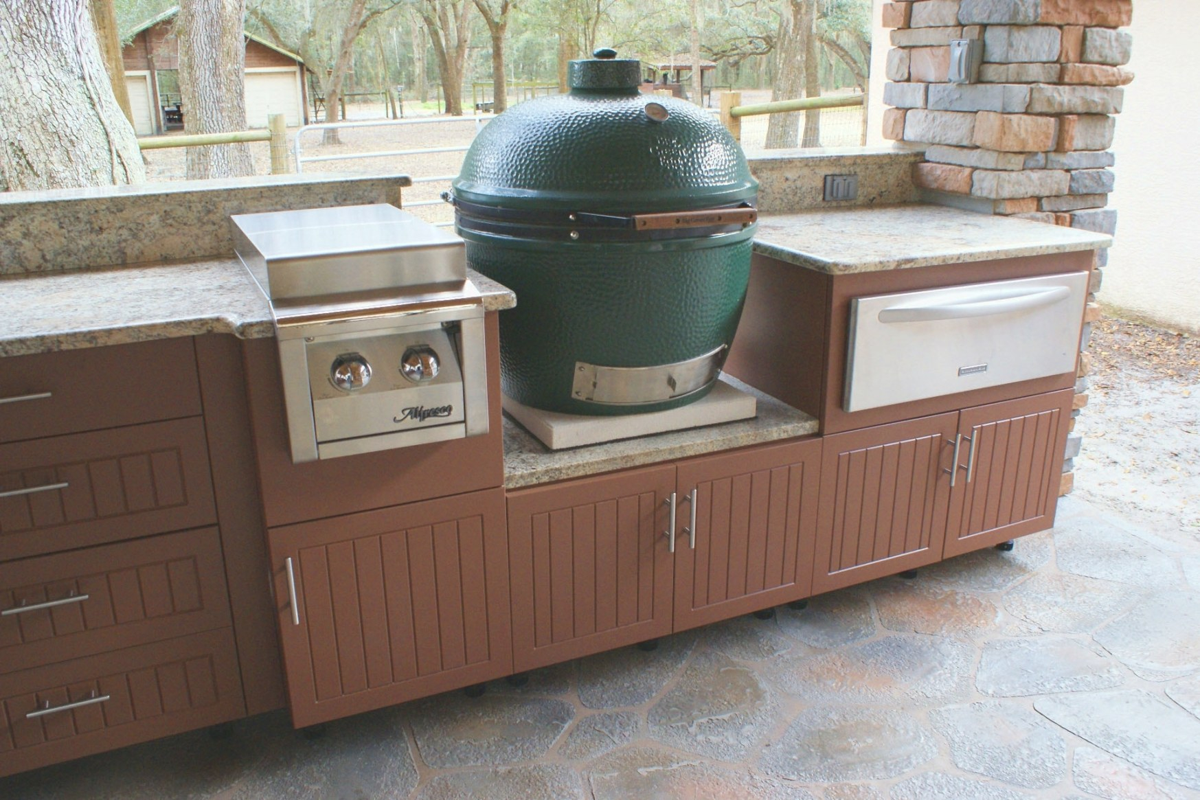 Green Egg Built In Outdoor Kitchen Ideas — Randolph Indoor for Big Green Egg Outdoor Kitchen