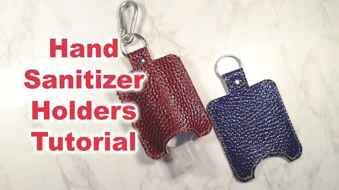 Hand Sanitizer Holder Keychain Tutorial - Youtube intended for Hand Sanitizer Holder Diy