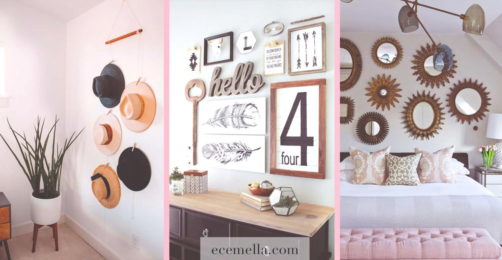 How To Decorate Your Blank Walls: 17 Inspirational Chic regarding Wall Decor Ideas
