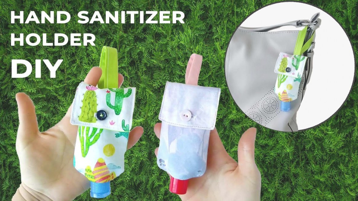 How To Sew Hand Sanitizer Holder - Diy Hand Gel Pouch In Any Size //  Pattern And Tutorial in Hand Sanitizer Holder Diy
