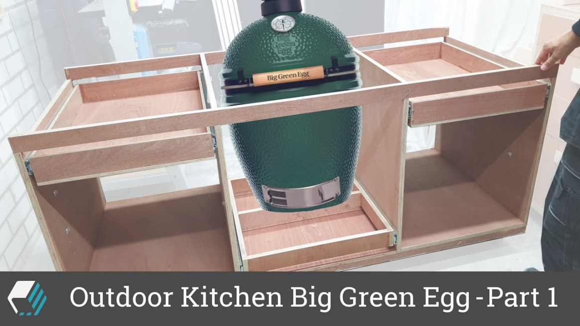Outdoor Kitchen For Big Green Egg Bbq - Part 1 - Frame Assembly, Drawers &  Shelves inside Big Green Egg Outdoor Kitchen
