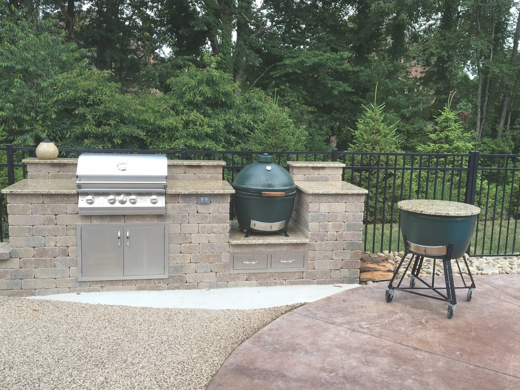 Outdoor Kitchen Island — Big Green Egg - Egghead Forum - The with regard to Big Green Egg Outdoor Kitchen
