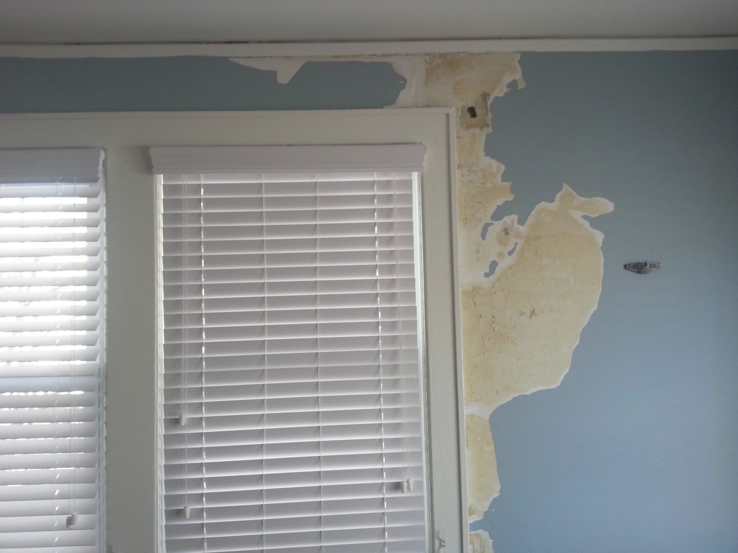 Plaster Wall Ice Damming Water Damage - Home Improvement regarding Drywall Vs Plaster How To Tell