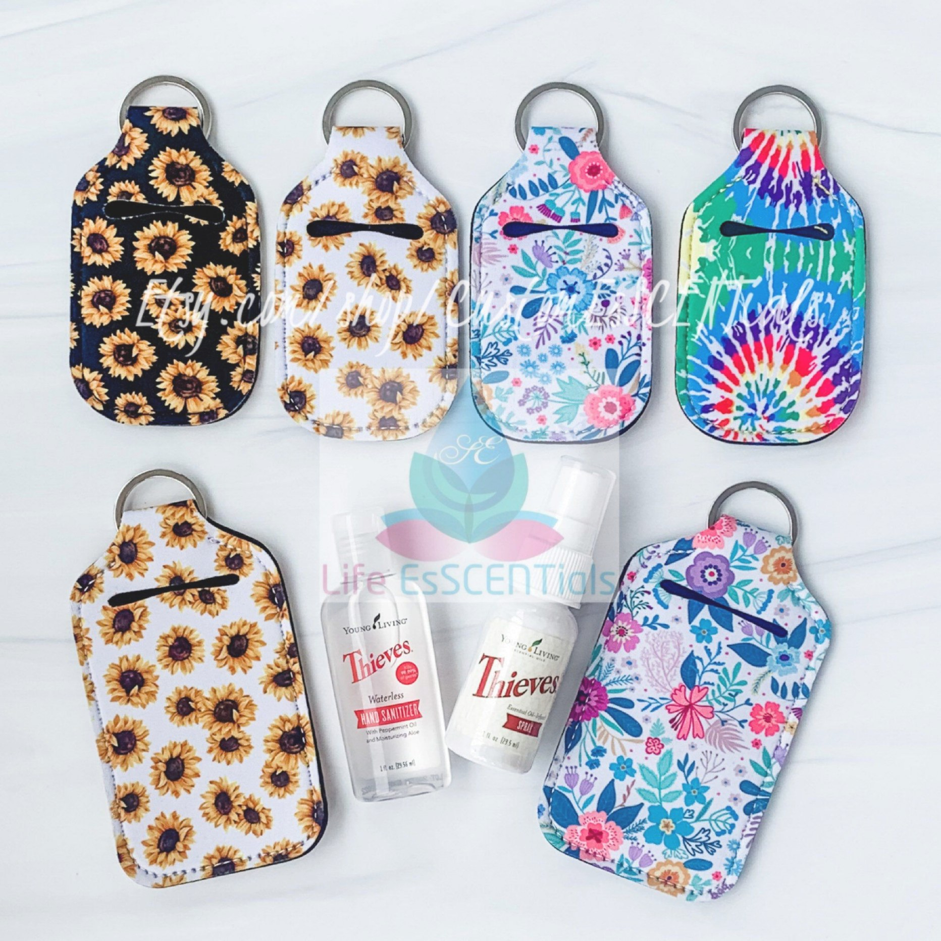 Single Or Set Of 12 Hand Sanitizer Neoprene Cases Keychain inside Hand Sanitizer Holder Diy
