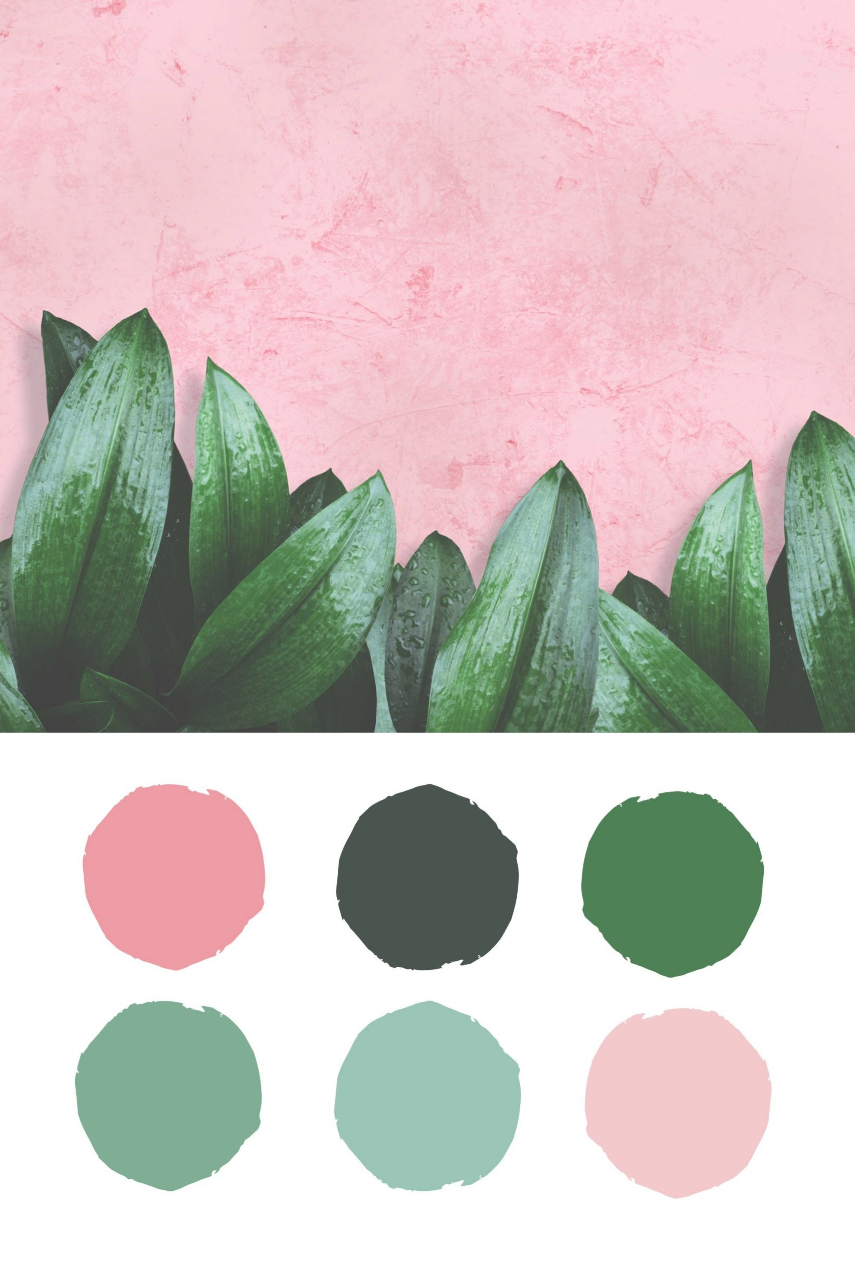 Summer Blush And Green Color Palette Inspirationashley throughout Inspirational Color Palette Green