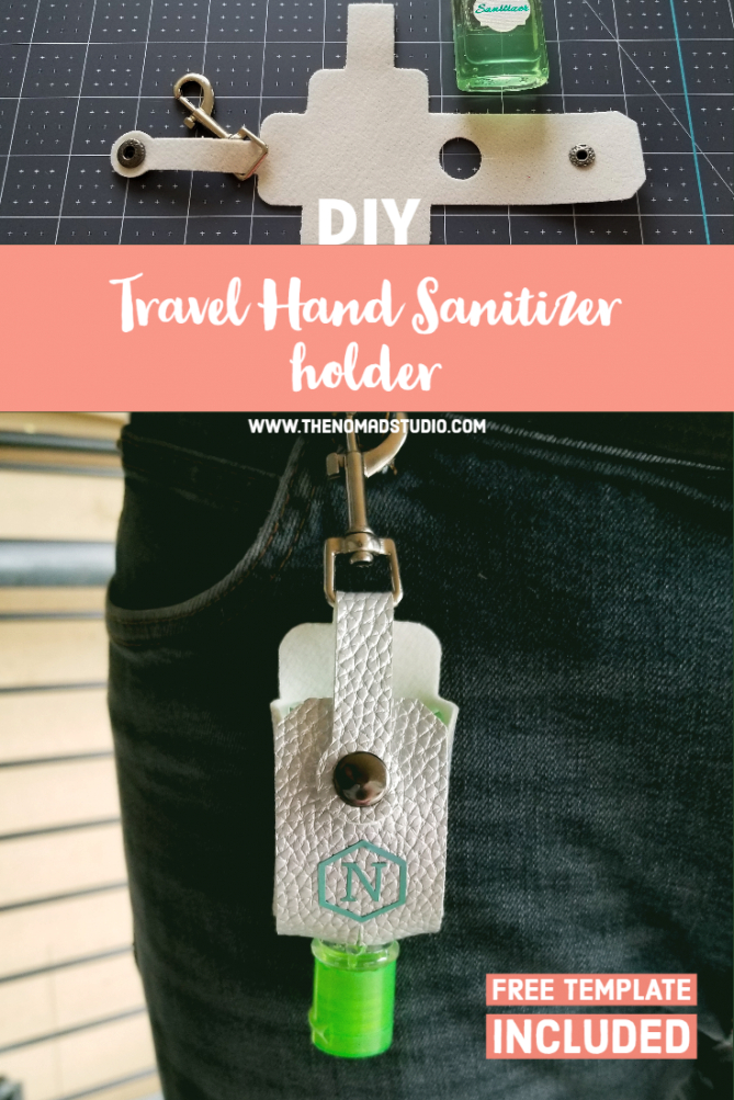 Travel Hand Sanitizer Holder With Key Ring | The Nomad Studio regarding Hand Sanitizer Holder Diy