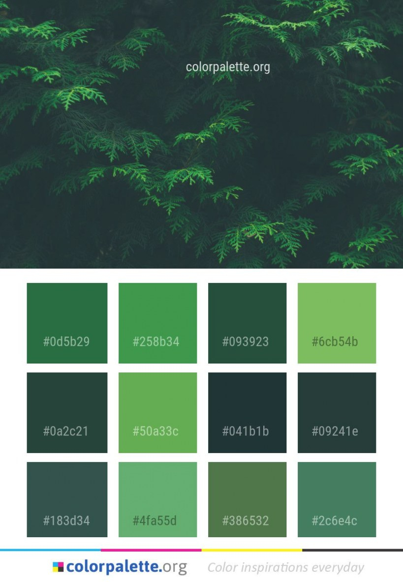 Vegetation Green Nature Color Palette #colors #inspiration intended for Inspirational Color Palette Green